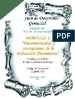 01 - PSICOMOTRICIDAD Y CONCEPCIONES DE LA EDUCACIÓN PSICOMOTRIZ