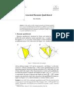 The Associated Harmonic Quadrilateral - Paris Pamfilos