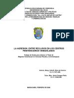 La Agresion Entre Reclusos en Los Centros Penitenciarios Venezolanos