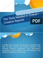 The tools needed in critivcal and creative reports.pptx