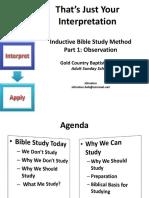 méthode étude inductive bible