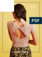 Cropped top pattern