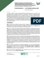PROYECTO DE RESOLUCION