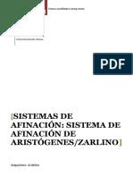 Sistemas de afinación Sistema de afinación de AristógenesZarlino