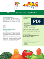 Processed Fruit and Vegetables