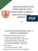 Presentación Video Inducción Docentes 2019-II