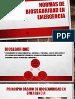 Normas de bioseguridad en emergencia