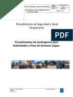 P-C-FFSL-SSO-001 Procedimiento de Contingencia Para Festividades y Fines de Semanas Largos.