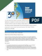 El Pacto 30 30 30 APS Para La Salud Universal 12 de Diciembre de 2019 OPS OMS