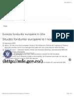 Situația fondurilor europene la 1 noiembrie