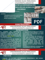 Incidencias de La Contaminacion Columnas
