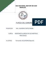 Pureza Del Cianuro