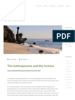 The Anthropocene and the Archive _ the Memory Network