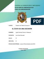 Chavez Velasquez Ingrid Carolay - El Exito Es Una Decisión