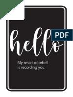 Doorbell Sign 2