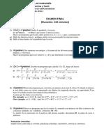 Final de Matlab con solucionario FIQT UNI