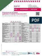 Info Trafic Axe b - Tours-Vierzon-bourges (Nevers) Du 13-12-2019