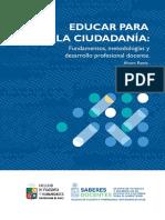 libro educar para la ciudadania fundamentos metodologias y desarrollo profesional docente para descarga