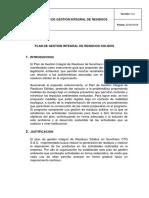 Plan de Gestion Integral de Residuos