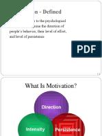 Motivation Lecture