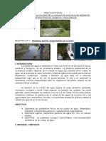 Determinación de La Calidad de La Laguna San Nicolás Mediante Parámetros Físicos, Químicos y Biológicos