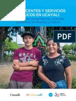 Adolescentes y Servicios Públicos en Ucayali - Estudio CAP 2019