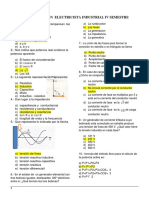 Evaluacion Electricista Industrial IV Semestre - Lima Actual