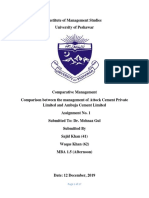Comparative Management Assignment.
