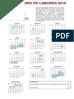 Calendario de Poder Judicial 2019