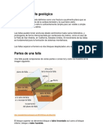 etapa de falla geológica