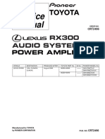 RX300 audio system power amplifier Toyota Lesus