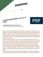 CARLOS MARTÍ ARÍS. La luz es el tema – revista diagonal.