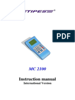 Tipes Manual for MC2100