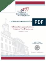 421 VFD Comptroller's Report