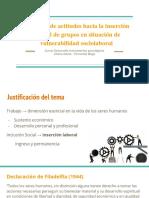Medición de Actitudes Hacia La Inserción Laboral de Grupos en Situación de Vulnerabilidad Sociolaboral