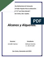 Informe Digital, Química, Alcanos y Alquenos