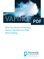 What You Need to Know and How to Talk to Your Kids About Vaping Guide Partnership for Drug Free Kids