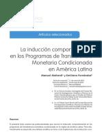 La inducción comportamental en los Programas de Transferencia Monetaria Condicionada en América Latina