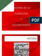 Historia de la Flebologia y escleroterapia