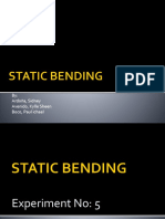 Ppt Static Bending