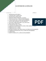 PARAMETROS Y MAGNITUDES DE LAS LÌNEAS DE TRANSMISIÒN