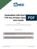 HCC Embedded USB Host Fujitsu FTP 6xx Printer Class Driver User Guide v1 00