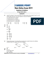 JEE Main 2019 Paper Solution Chemistry 09-04-2019 1st