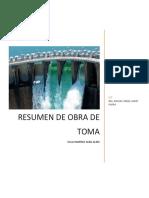 RESUMEN OBRAS DE TOMA 11400133