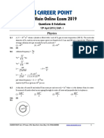 JEE Main 2019 Paper Solution Physics 10-04-2019 1st
