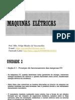 Aula 4 Máquinas Elétricas - Princípio de funcionamento das máquinas CC