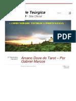 Arcano Doze Do Tarot a Por Gabriel Marcos Comunida