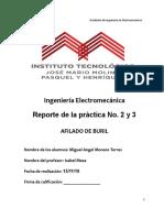 reporte de procesos de manufactura