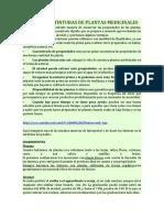 CÓMO HACER TINTURAS DE PLANTAS MEDICINALES