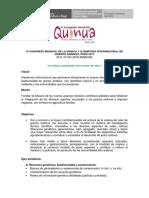 CONGRESO MUNDIAL DE LA QUINUA 2017